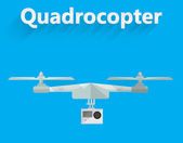 Flat vector illustration of quadrocopter — Stockvector