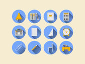 Flat icons for school supplies — Stockvector