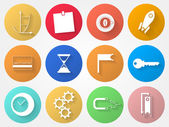 Vector circle icons for outsource — Stock Vector
