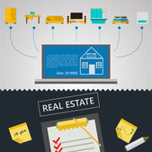 Vector infographic for sale of real estate — Stock Vector