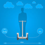 Flat vector illustration for technical characteristics of alternative personal transport — Stock Vector