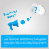 Flat vector illustration for Business quest — Stock Vector