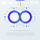 Vector infographic for baby things store with Mobius stripe — Vetorial Stock