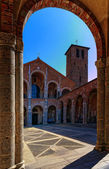 Milano, Italy, S. Ambrogio Cathedral — Stock Photo