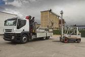 Staplerlast weiss camion — Stockfoto