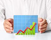 Graph in hand — Foto de Stock