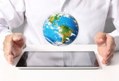 Shows tablet — Stock Photo