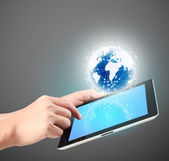 Touch screen tablet — Stock Photo