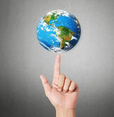 Earth in human hand — Stock Photo