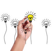 Drawing light bulb — Stock Photo