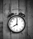 Black Alarm a Clock — Stock fotografie