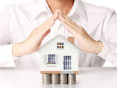Holding house representing home  — Stock Photo