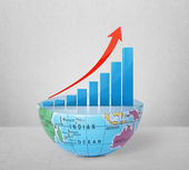 Global success concep on Earth — Stock Photo