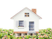 Mortgage concept by money house — Stock Photo