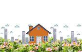 Image de la notion de faire de votre maison — Photo