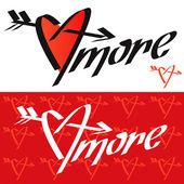 Love calligraphy. — Stock Vector