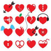 Heart icon set. — Cтоковый вектор