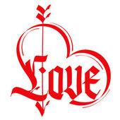 Love typography. — Stock Vector