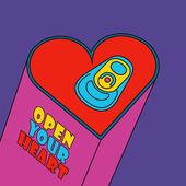 Open your heart — Stock Vector