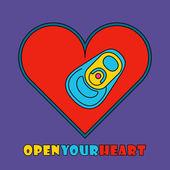 Pop art style heart — Stock Vector