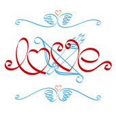 Love calligraphy. — Stock Vector