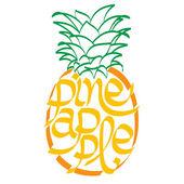 Pineapple calligraphy, typography — Stock Vector