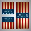 4th of July card and template design — Stock Vector