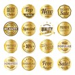 Vetorial Stock : Retro label set with gold texture