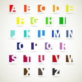 Alphabet set design — Stock Vector