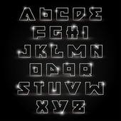 Алфавит сценография — Cтоковый вектор