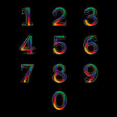 Number set design — Vettoriale Stock