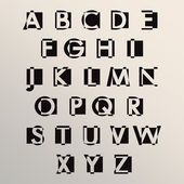 Alphabet set design — Stockvektor