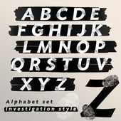 Alphabet set design — Vecteur