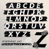 Alphabet set design — Stock Vector