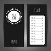 Menu of food and drink tenplate design — Stock Vector