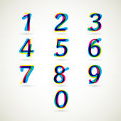 Numbers set — Vettoriale Stock