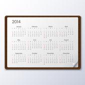 Calendário de 2014 — Vetor de Stock