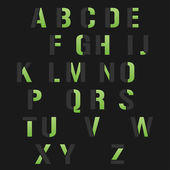 Modern alphabet set — Vecteur