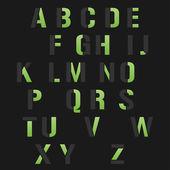 Modern alphabet set — Cтоковый вектор
