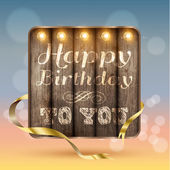 Happy birthday to you vintage design — Stock Vector