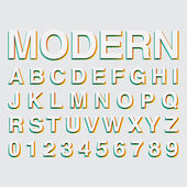 Alphabetic fonts and numbers — Vetorial Stock