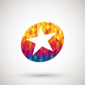 Star icon with colorful diamond — Stockvector