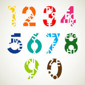 Numbers set design — Stock Vector