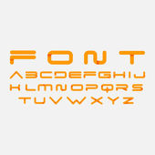 Alphabetic fonts — Stock Vector