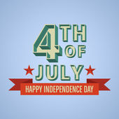 Happy independence day United States of America, 4th of July car — Vector de stock