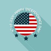 Happy independence day United States of America, 4th of July car — Stock Vector