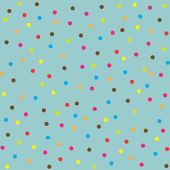 Seamless multicolor dot pattern, vector background — Stock Vector