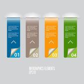 Infographics element template — Stock Vector