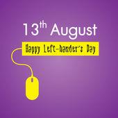 Happy Left-handers Day Background — Stock Vector