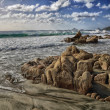 Rocks on beach, Iles Sanguinaires — Stock Photo